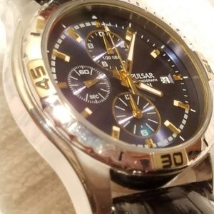 Pulsar Accessories - Pulsar by Seiko Chronograph Watch Blue Dial